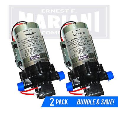2-Pack SHURflo Fresh Water Pump 12v 3.5 GPM DC RV 45 psi Motorhome 2088-554-144