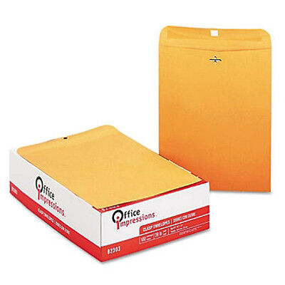 Office Impressions Clasp Envelopes 10 X 13 Brown Kraft - 200ct - Free Shipping