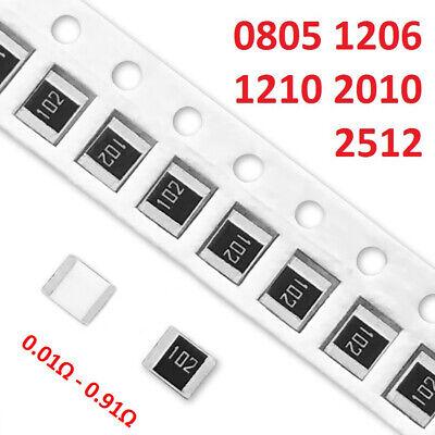 Smdsmt 0805 1206 1210 2010 2512 Resistors Range 0.01 - 0.91 Ohm Low Resistance