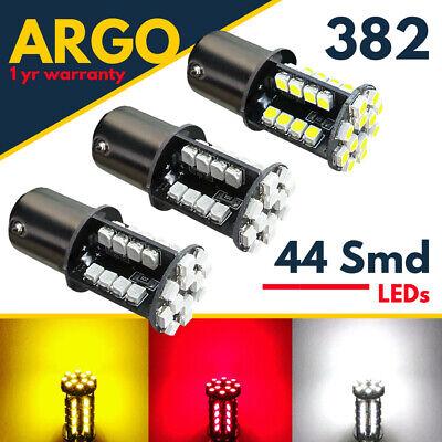 382 1156 Ba15s Reverse led White Smd Indicator Red Amber Stop Brake Light Bulbs