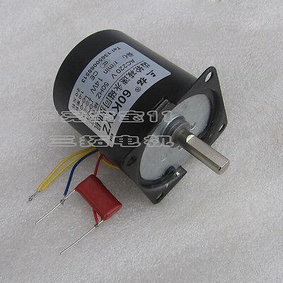 1pcs Ac220v 2.5-60rpm Permanent Magnet Synchronous Motor 60ktyz Eccentric Shaft