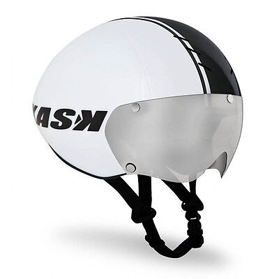 KASK BAMBINO Pro Road Cycling Helmet - White/Black / Clear Lense  [M: 55-58cm]