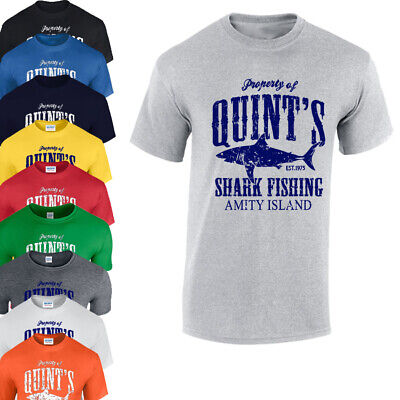 JAWS INSPIRED MOVIE FAN T-SHIRT QUINT'S SHARK FISHING GIFT PRESENT