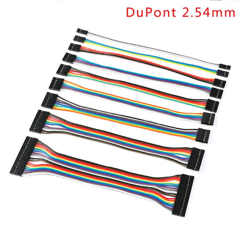 2/3/4/5/6/7/8/9/10/12/20P DuPont 2.54mm Ribbon Connector Wire Cable F-F 20cm