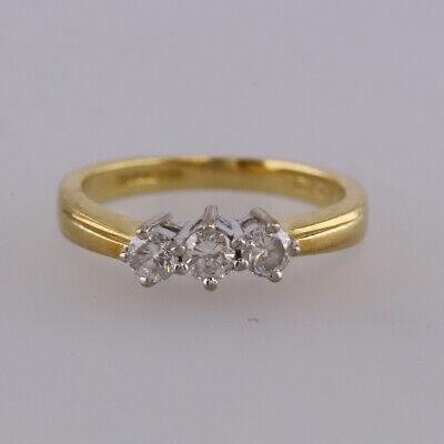 0.33 Carat Diamond Three Stone Ring 18ct Yellow Gold