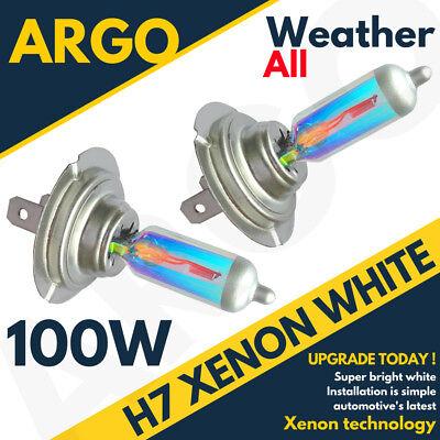 H7 100W 8500K Xenon HID Super White All Weather Effect Look Headlight Bulbs 12v