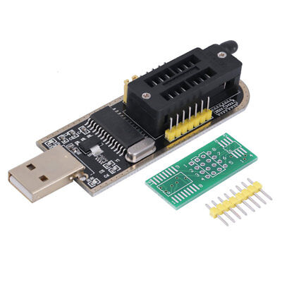 25 SPI Series 24 EEPROM CH341A BIOS Writer Routing LCD Flash USB Programmer DS