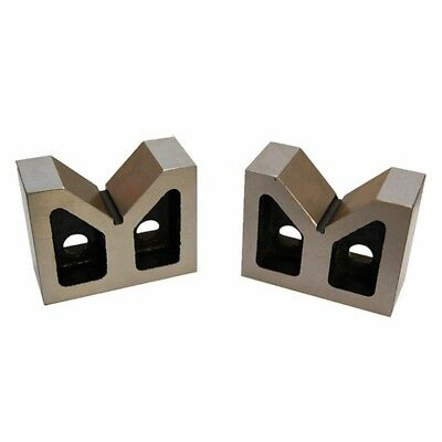 Set Of 2 Pieces 4 Inch Cast Iron V-blocks Ground 4 X 1-58 X 2-58