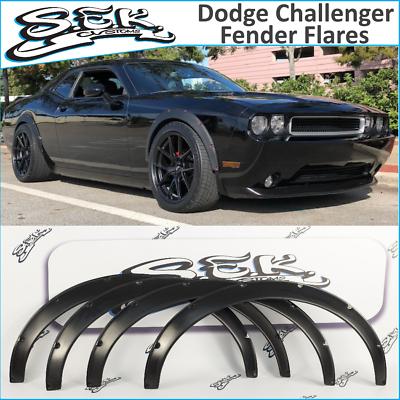 Dodge Challenger SRT (08-16) Fender Flares Set, Wide Body Kit, ABS plastic.