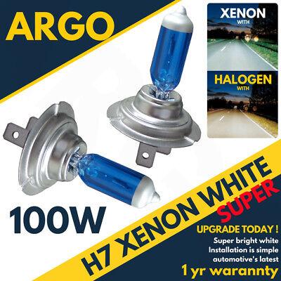 H7 100w Super Bright White Xenon Upgrade Headlight Bulbs Set 499 12v Full/dipped