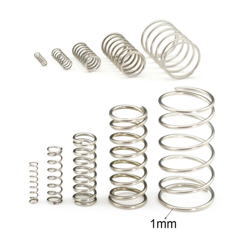 1mm Wire Diameter Compression Spring 304 Stainless Steel Small Spring Pressure