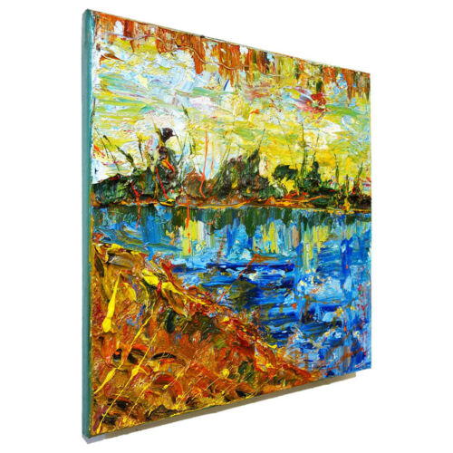 ORIGINAL OIL█PAINTING█VINTAGE█IMPRESSIONIST█ART LANDSCAPE SIGNED ABSTRACT BEACH