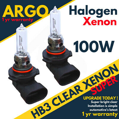 Hb3 100w 9005 8500k Super Clear Glass Xenon Hid Headlight Drl Fog Light bulbs