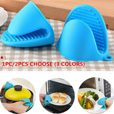 Mini Silicone Oven Mitts Gloves BBQ Heat Resistant  Pot Holder US -