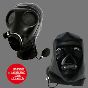 Latex Rubber Gum Studio Gas Mask - Latexmaske Gasmaske - custom made - i4