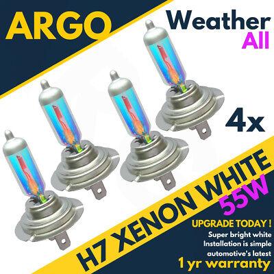 H7 Xenon Super White 55w Bulbs Dipped Beam 12v Headlight Headlamp Hid Light X 4