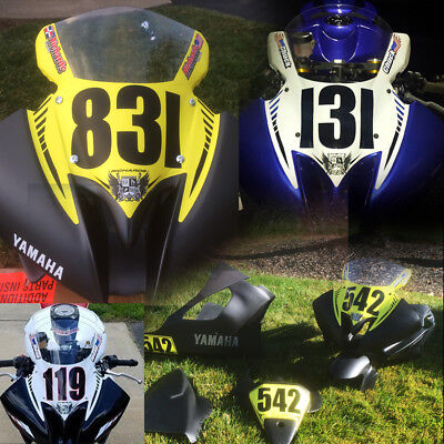 trackday or race numberplate set fits 2008 2009 2010 2011 2012 yamaha R6