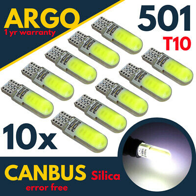 Car Parts - T10 LED 501 WHITE BULBS CAR ERROR FREE CANBUS XENON W5W WEDGE HID SIDE LIGHT 10x