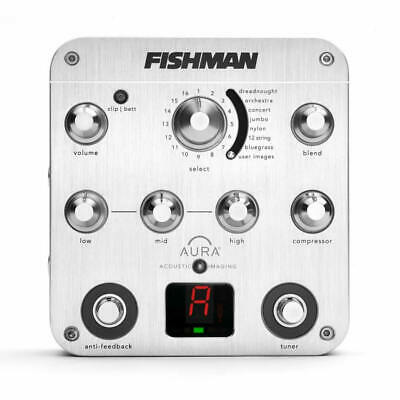 FISHMAN Aura Spectrum Acoustic Guitar DI EQ Tuner Pedal PROAURSPC NEW