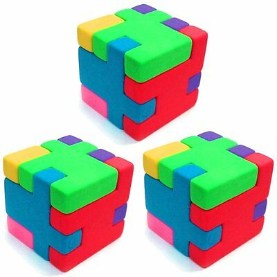 30 Cube Puzzle Erasers - Fun Pocket Money Toys - Birthday - Gift Ideas