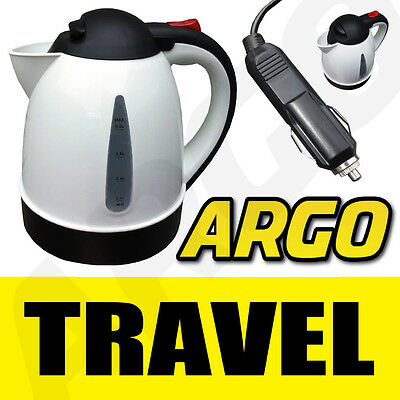 12V TRAVEL CAR VAN LORRY KETTLE 12 V VOLT WATER BOILER CIGARETTE LIGHTER POINT
