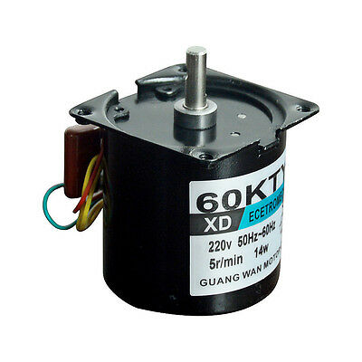 60ktyz Synchronous Motor Ac220v 14w 2.5-110rpm Permanent Magnet Ac Motor Cwccw