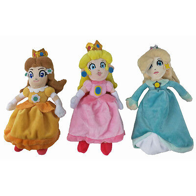 3 Super Mario Prinzessin Princess Peach Daisy Rosalina Plüsch Plüschtier Puppe ()