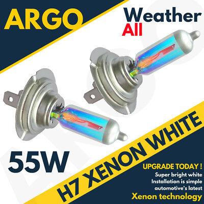 H7 XENON SUPER WHITE 499 HEADLIGHT BULBS 12V ABARTH 500c
