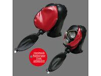 Latexmaske Gasmaske custom made Latex Rubber Gum Studio Gas Mask k2