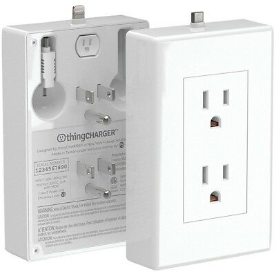 thingCHARGER USB Charger 2x Apple Android Wireless Wall -