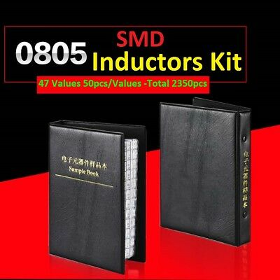0805 Smdsmt 5 Components Samples Book Inductors Assorted Kit 47 Values