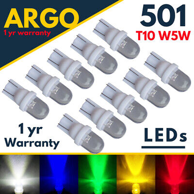 Car Parts - T10 Car Led White Bulbs 501 W5w Amber Red Green Interior Side Light Car Wedge