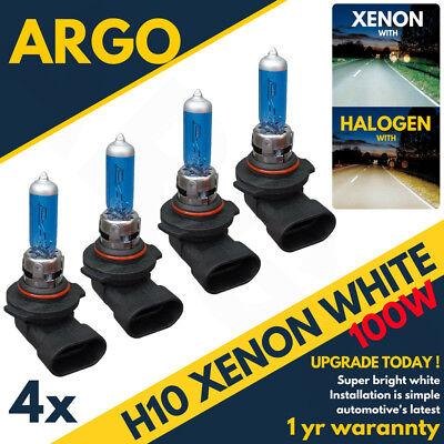 H10 100w Super White Xenon Effect Look 710 Upgrade Head Light Fog Bulbs 4x 12v
