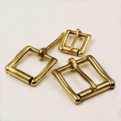 - Solid Brass Heel Bar Buckle Rectangle Single Pin Roller Buckle For Men Belt Bag