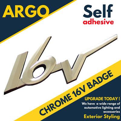 Chrome 16v Badge Silver 3d Emblem Decal Sticker Citroen Zx