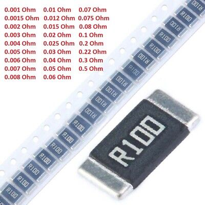 2512 Metal Alloy Smdsmt Chip Resistors 1 1w 2w 3w Range 0.001 To 0.5