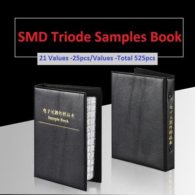 Smdsmt Transistor Triode Sot-23 Samples Book Assorted Kit Component 525pcs