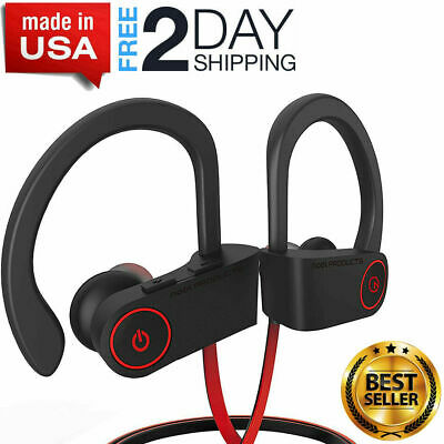 Best Waterproof IPX7 Bluetooth Headphones Earbuds Sports Wireless Beats NEW USA!