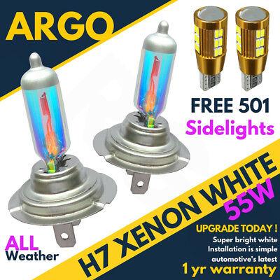 H7 55w 8500k Xenon Super White Effect Headlight Lamps Light Bulbs 501 Cree Led