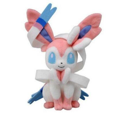 "10"" Pokemon Evolution Of Sylveon Plush Kids Toys Doll Eeveelution Birthday  toy"