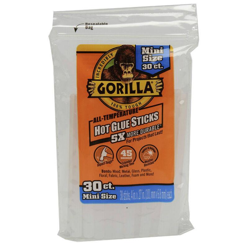 "Gorilla 3023003 All-Temperature Hot Glue Sticks, Mini, 4"""