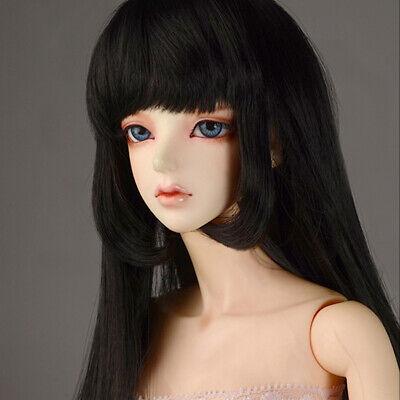 "Black 8-9 Dollmore 1//3 BJD SD size wig /"" Rapunzell Long Wig"