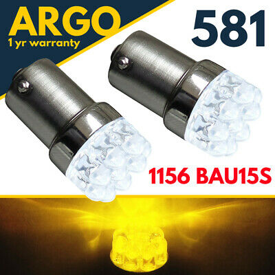 581 Py21w Indicator Amber Bau15s Led Light Bulbs Yellow Signal 1156 Car Bulb 12v