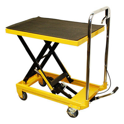 330 Lb Hydraulic Table Lift Cart 9 To 28 Lift Mobile Jack Cart Lock Wheels