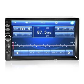 """7"""" Double Din Bluetooth Mechless ISO Car Radio MP5 Player Backup Camera Support (no offers, please)"""