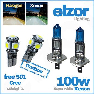 H1 Super White Xenon 100w 448 Head Lamp Light Bulbs T10 501 SideLight Led 12v