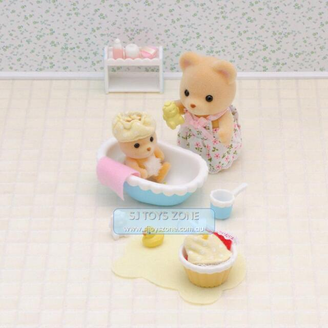 NEW Sylvanian Families Baby Bath Time Playset Kids Collectable Fun Toy