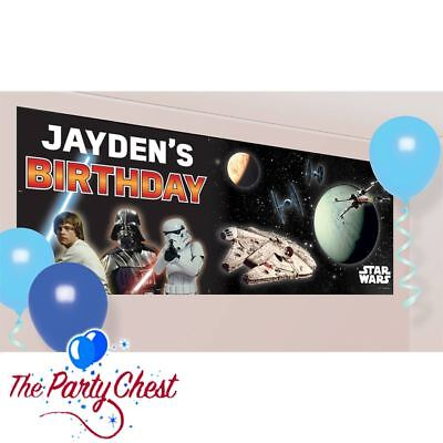 STAR WARS PERSONALISED BANNER WITH LETTERS Star Wars Poster Party Decoration 087 ()