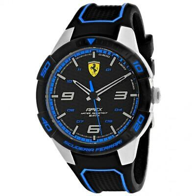 Ferrari 830632 Scuderia 44MM Men's Black Silicone Watch