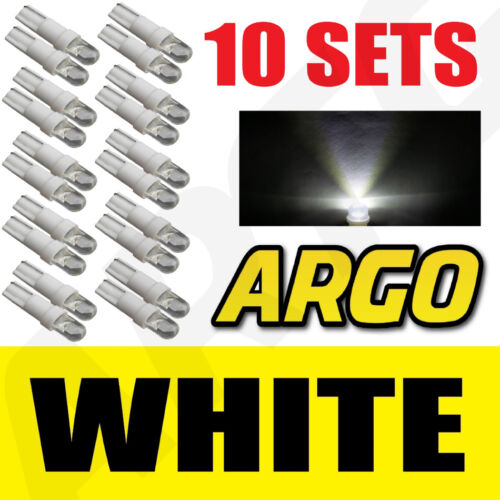 10 X SETS T5 286 LED ULTRA WHITE DASHBOARD LIGHT BULBS XENON 12V LAMP DIALS CAR
